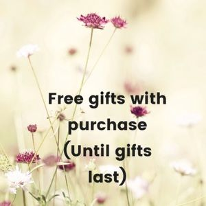 Free gifts with purchase till gifts last